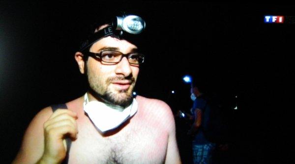 Le spectacle du Stromboli au JT 20h00 de TF1 du 21/08/2014