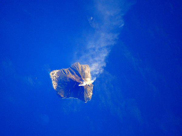 "Vu sur ""facebook"" ce 23/01/2015 ... (photo de l'astronaute italienne Samantha Cristoforetti)"