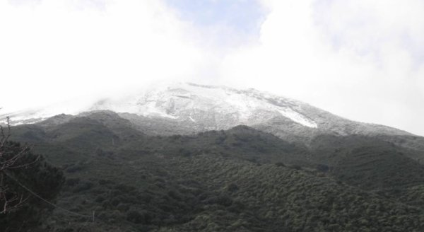 Le Stromboli enneigé ce 28/01/2015