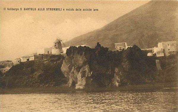 ancienne carte postale avec le moulin à vent (+/- 1900)