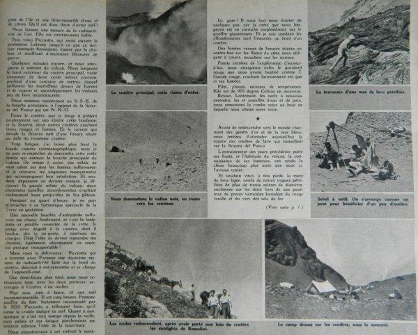 """""""Le Soir Illustré"""" n°891 du 21/07/1949 - Le secret du Stromboli par Haroun Tazieff - 2"""