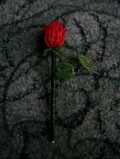 rose en perles