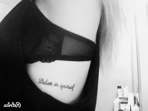 Voilà, mon tout premier tatouage.
