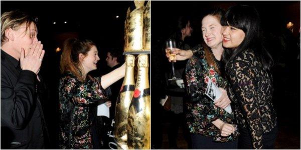 Lundi 6 février 2012 : Bonnie et son fiancé Jamie Campbell Bower étaient présents au London Evening Standard British Film Awards où Les Reliques de la Mort 2e partie a reçu un prix dans la catégorie Meilleur Blockbuster de l'année. D'autres acteurs d'Harry Potter tel que Katie Leung ou Oliver Phelps étaient également présents ! Elle peut faire mieux niveau tenue hein....... Flop for me !