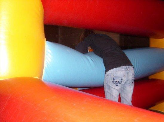 Moi dans un château gonflable