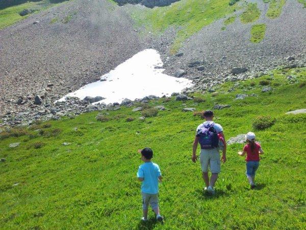 journée  montagne au  Col de la fenêtre (au-dessus des Contamines-Montjoie)