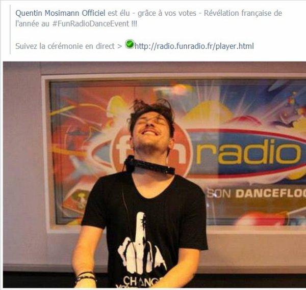 Quentin élu meilleur DJ révélation de l'année