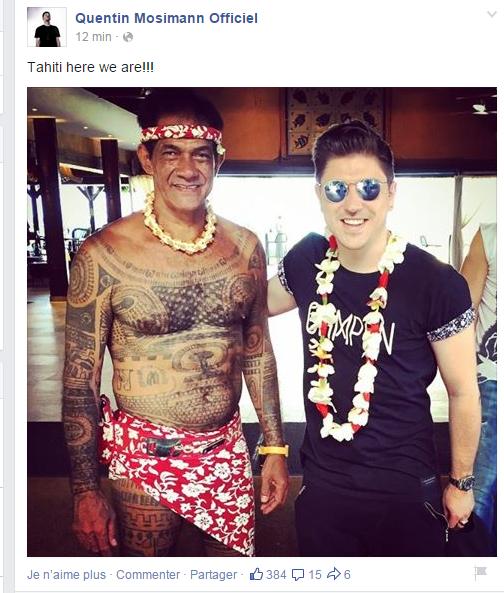 Quentin à Tahiti ...pour le travail ...et pourquoi pas pour le plaisir aussi