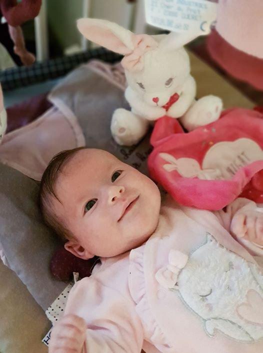 dimanche 17 septembre 2017 on fait  la  connaissance de notre nouvelle petite-fille en Bretagne