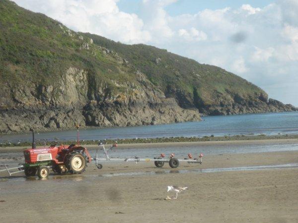 lundi 18 septembre Bréhec-plage(22)+Plouezec et Saint'Barbe face à l'île de Bréhat.
