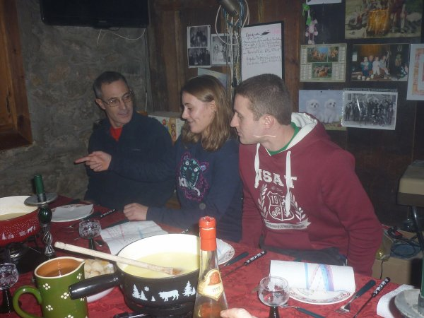 samedi 4 Novembre .1ère fondue au Tronchet