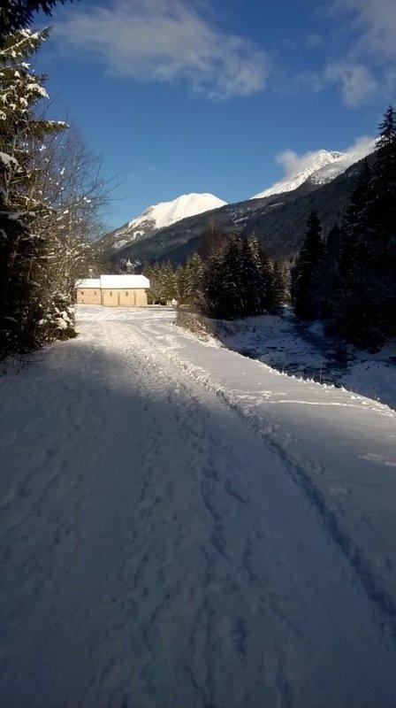 1ère marche dans la neige à la Gorge e 4 décembre