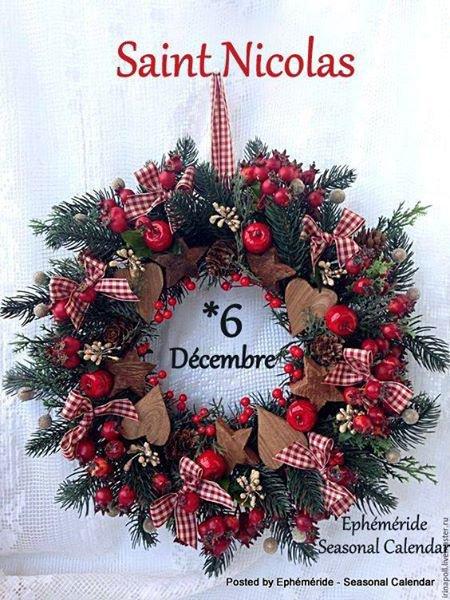 6 Décembre c'est la ST Nicolas...Noel n'est pas loin!