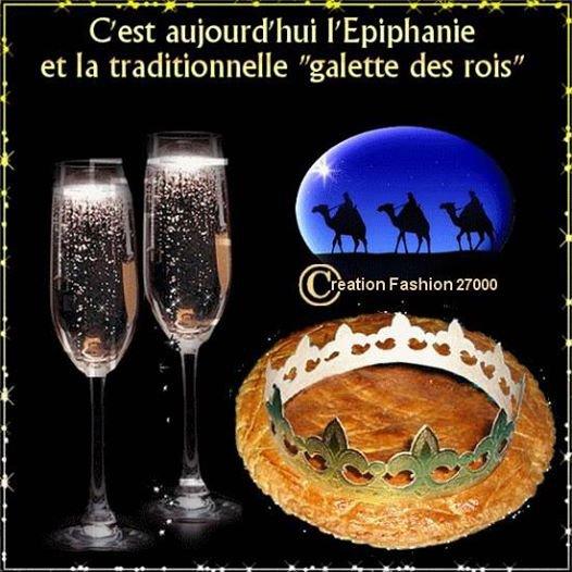 samedi 6 janvier 2018 c'est L'Epiphanie...bonne galette!
