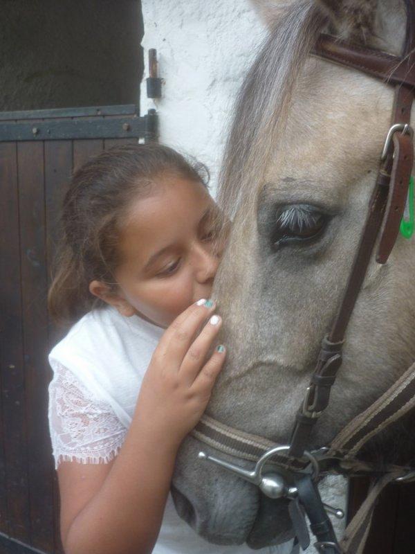 14 juillet ambre a retrouvé les chevaux aux Contamines