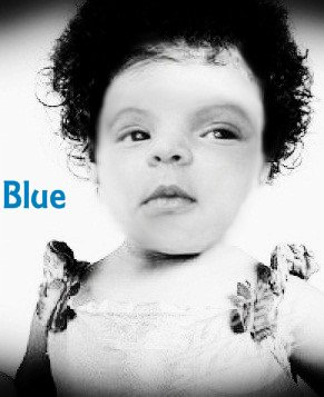 BLUE est la vrai fille de Miss B