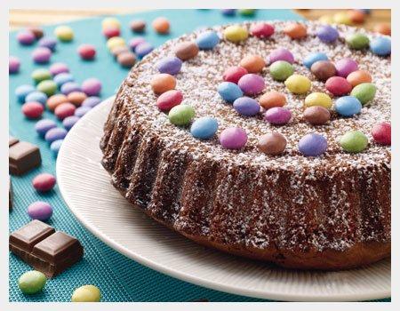 Le Gâteau au Smarties de Méline.