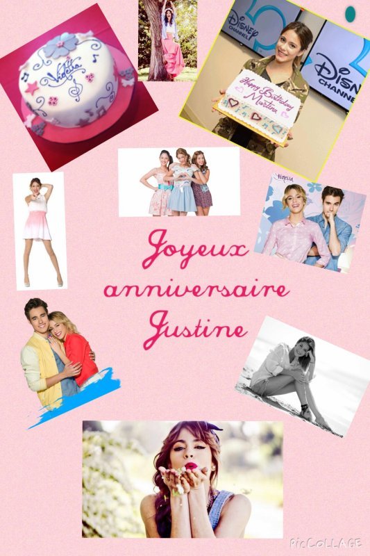 Joyeux anniversaire Justine !!!