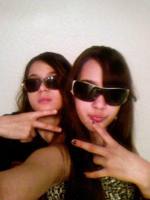 Moi et ma soeur. (J'avais 11 ou 12ans)