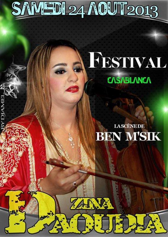 ZINA DAOUDIA Vous donner une autres rendez-vous Le Samedi 24 Aout au festival Casablanca Sur La scène de Ben M'sik