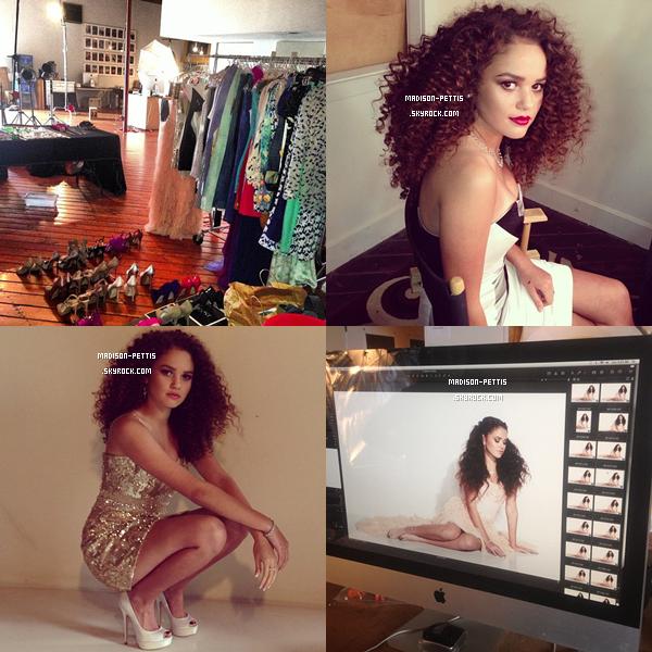 hiet madison a fais un photoshoot pour Glamoholic Magazine