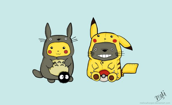 Totoro ! Pikachu !