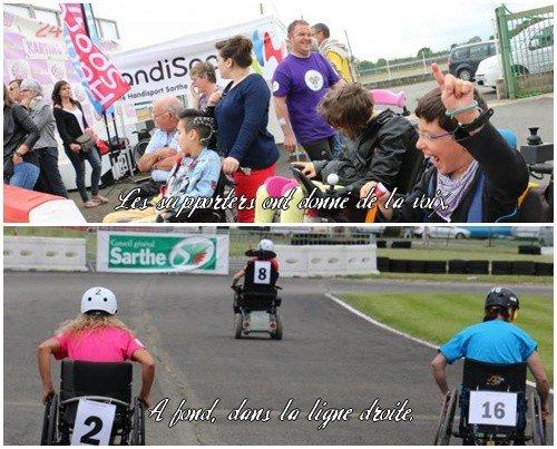 Inédit au Mans. Course en fauteuil roulant sur le circuit du karting
