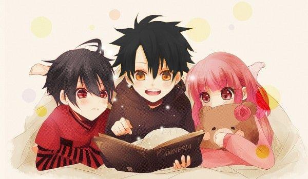Morgan, Gale et Laëlia.
