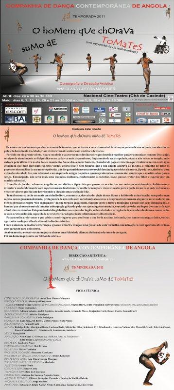 A COMPANHIA DE DANÇA CONTEMPORANEA DE ANGOLA Apresenta