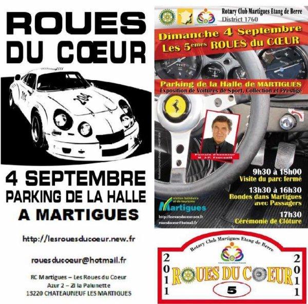 Dimanche 4 septembre 2011 : RDV à Martigues pour les roues du coeur