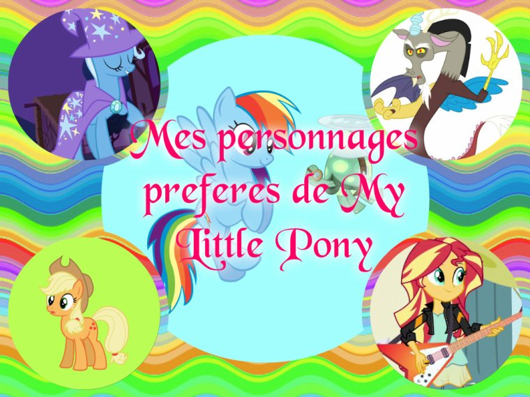 Mon analyse personnel #2 = les personnages de My Little Pony