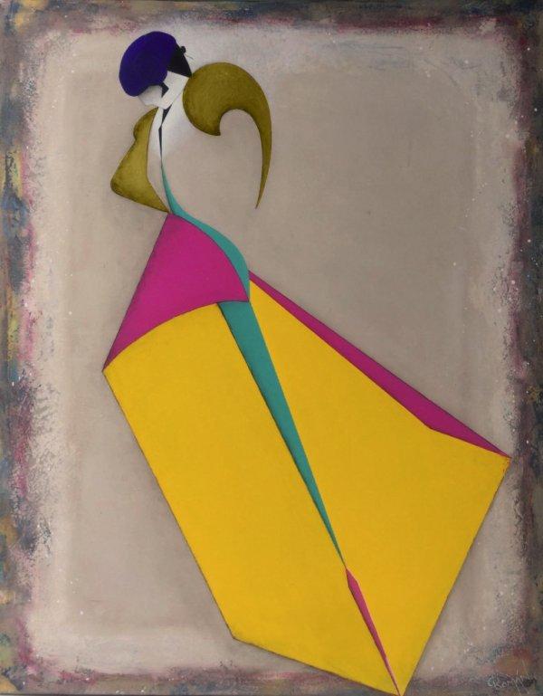 El torero azul, troisième et dernière toile de mon triptyque...