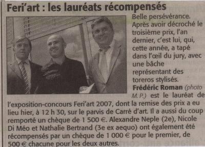 1° PRIX FERI'ART 2007