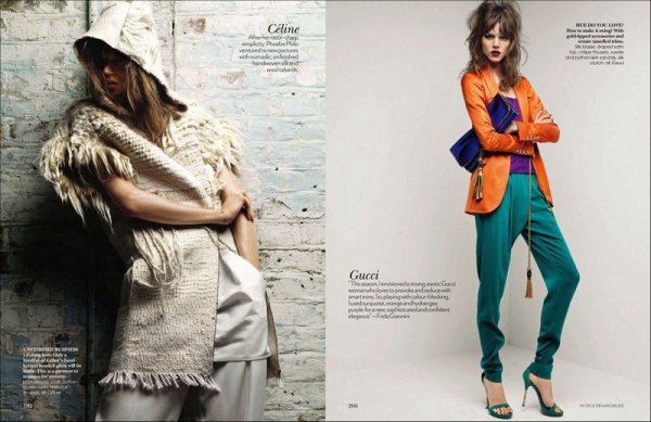 Look Forward (reprint + two pictures) | Vogue India | March 2011 | Shot by Patrick Demarchelier