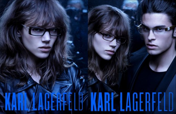 Karl Lagerfeld SS11 Eyewear ad campaign | Shot by Karl Lagerfeld