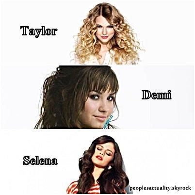 Selena Gomez : ''Je suis contente d'avoir Demi et Taylor auprès de moi , elles me comprennent.''