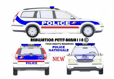 Ford mondeo break police nationale francaise new serigraphie v hicules de secours r alis s - Comment dessiner un camion de pompier ...