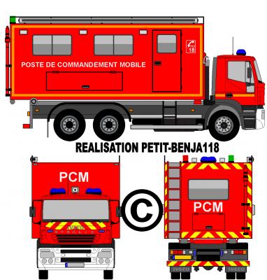 Camion iveco stralis sapeurs pompiers poste de - Dessiner un camion de pompier ...