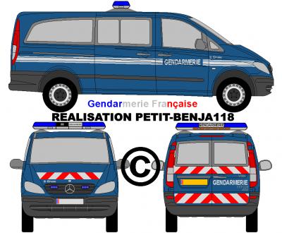En exclusivite mercedes vito 4x4 111 cdi gendarmerie - Dessiner un camion de pompier ...