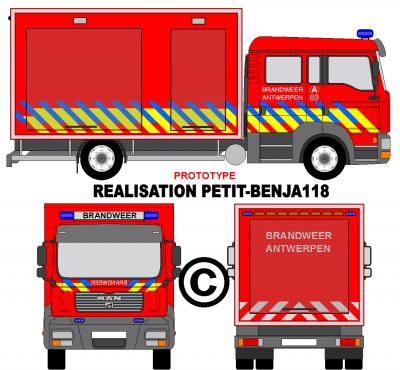 Camion man tgl brandweer antwerpen v hicules de secours - Dessiner un camion de pompier ...