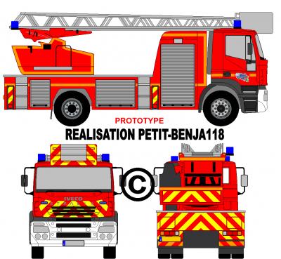 Camion iveco stralis echelle epa france v hicules de - Comment dessiner un camion de pompier ...