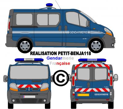 Renault trafic gendarmerie fran aise v hicules de - Gendarme dessin ...