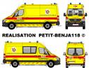 Mercedes Sprinter Ambulance Pompiers Enghien - Brandweer Edingen