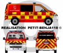 Volkswagen Transporter T5 Secours Médical Pompier Français