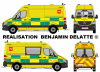 New Mercedes Sprinter Ambulance (Battenburg stripping A.M.U. 112 BE) Brabant Wallon