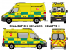 New Mercedes Sprinter Ambulance 112 des pompiers de Bruxelles (Quasar Fédéral signal système lumineux)