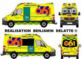 New Mercedes Sprinter Ambulancia EPES 061 (Bergadana)
