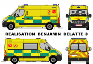 Renault Master Ambulance 112 A.M.U. Zone de Secours Wallonie Picarde