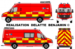 Volkswagen Crafter Signalisation Pompiers Zone deSecours Brabant Wallon