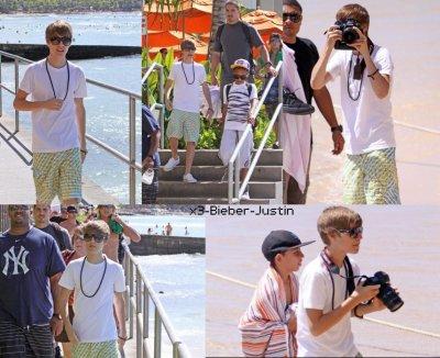 Justin a la plage de Hawai et donnant une interview pour access hollywood. C'est Jasmine qui a eu un calin ?